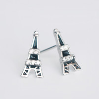 Romantic fashion Eiffel Tower 925 sterling silver  earrings,a perfect gift