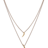 New Moon Layered Necklace - Gold