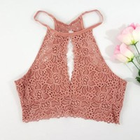 Women Lace Tank top Vest 2017 New Fashion Summer Tube Top Sleeveless Top Clothing for Lady