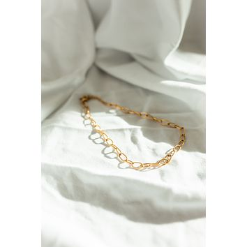 18K Mini Oval Chain Necklace