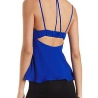 Strappy Flared Chiffon Tank Top by Charlotte Russe