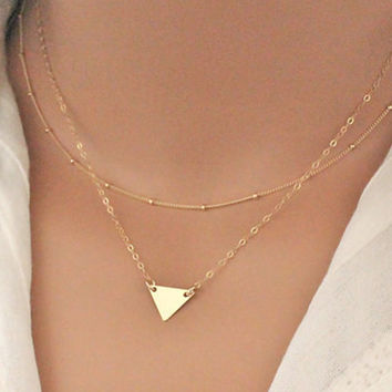 Geometry triangle necklace  Trendy Necklace For Women Chokers Necklaces XL217