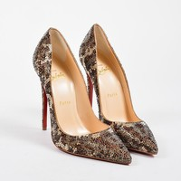 DCCK2 Brown Christian Louboutin So Kate Strass Leopard 120 Pumps