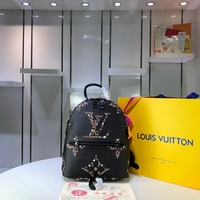 Kuyou Gb2981 Louis Vuitton Lv M41560 Leopard Monogram Handbags Monogram Bags Palm Springs Backpack 21*31*10cm
