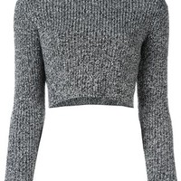 Carven Ribbed Cropped Jumper - Jeffrey New York - Farfetch.com