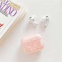 Fashion Luxury Marble  - Protective Case Cover Compatible with the Apple AirPods Pro Wireless Headphones