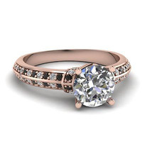 AMAZING 2.45CT ROUND SOLITAIRE STUD 925 STERLING SILVER ENGAGEMENT RING FOR HER