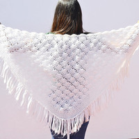 women's shawl, woman's shawl, women's shawl, mother's gift, white coat, women's gift, white shawl white, handmade, white mesh, handmade shaw