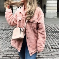Fiona Faux Lambs Wool Jacket
