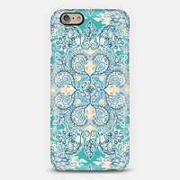 Gypsy Floral in Teal and Blue iPhone 6 case by Micklyn Le Feuvre | Casetify