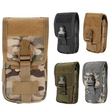 CQC 5.5 Inch Tactical Molle Pouch Cover Case Military Outdoor Hunting Camo Mobile Phone Pouch Belt Holder Waist Bag