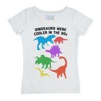 Dinosaurs Were Cooler in the 90s-Female White T-Shirt