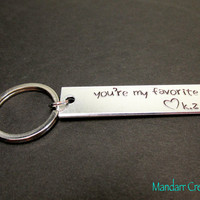 You're My Favorite, Fully Personalized Keychain with Custom Initials, Anniversary Gift, Boyfriend Girlfriend, Best Friends