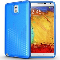 TUDIA Ultra Slim Melody Series TPU Protective Case for Samsung Galaxy Note 3 III (Blue)