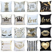 Gold Decorative Pillowcases