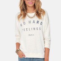 RVCA No Hard Feelings Cream Sweatshirt