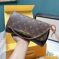 LV Louis Vuitton Classic Retro Women Shopping Bag Leather Handbag Tote Shoulder Bag Crossbody Satchel