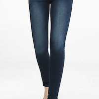 Dark Wash Mid Rise Supersoft Jean Legging from EXPRESS