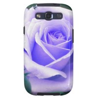Pale Lavender Rose Samsung Galaxy S 3 case Samsung Galaxy S3 Cases from Zazzle.com