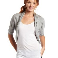 A. Byer Juniors Cardigan with Tab, Olive, Small