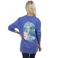 The Sweet Life Brunch Long Sleeve Tee in Violet by Lauren James