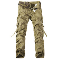 Khaki Strappy Cargo Pants
