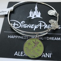 Disney Alex and Ani Parks Tinker Bell Happy Thoughts Charm Silver Finish New