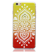 Orange Ultrathin Transparent Lace iPhone 5se 5s 6 6s Case Originality Cover Gift