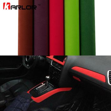 30*100cm Velvet Fabric Film Suede Vinyl Wrap Film Car Stickers Adhesive Automobiles Car Decoration Decal Car Styling Accessories