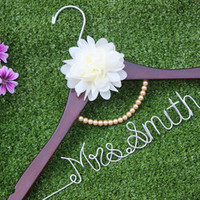 Brides Hanger, Wedding Hanger, Personalized Bridal Gift.Personalized flower bridal hanger, personalized custom Bridal,-in Event & Party Supplies from Home & Garden on Aliexpress.com | Alibaba Group