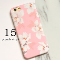 Pink Floral iPhone 7 7Plus & iPhone se 5s 6 6 Plus Case Best Protection Cover +Gift Box-518