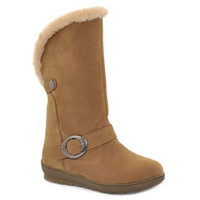 Mid-Calf Snow Boots With Buckle