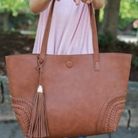 South of the Bay Tote - Cognac