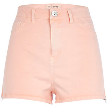 River Island Womens Light orange high waisted stretch shorts