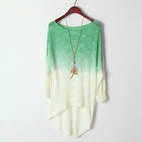 Cotton Shirt for Women with Gradient Color