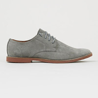 'Denzil' grey suedette gibson shoes with terracotta sole - View All Shoes - Shoes and Accessories