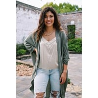 Liz Knit Cardigan, Dusty Olive