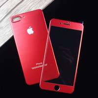For iphone 7 plus Screen Protector 3D glass Full Cover Film Red
