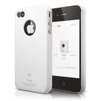 elago S4 Slim Fit Case for AT&T/Verizon iPhone 4/4S with Logo Protection Film - Snow White
