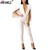 Sexy Plunge V Neck Jumpsuits