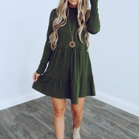 Just Us Dress: Olive
