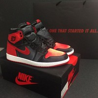 """Ready Stock"" aj1 air jordan 1 OG High SE ""Satin"" Men Sneaker 917359-001"