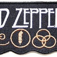 LED Zeppelin Embroidered Patch Iron Sew on Jacket Music Rock Band Logo P-63