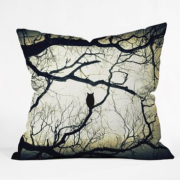 Shannon Clark Mysterious Woods Throw Pillow