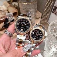 Rolex Fashionable Men Women Chic Couple Quartz Watch Wristwatch