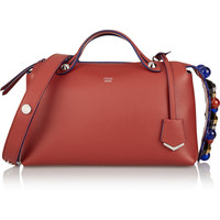 Fendi - By The Way medium embellished textured-leather shoulder bag
