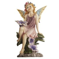 SheilaShrubs.com: The Fairy Dust Twins Garden Collection - Flower EU5073 by Design Toscano: Garden Sculptures & Statues