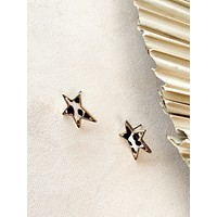 Print Star Earrings