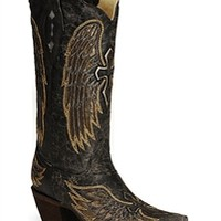 Corral black Gold Wing Cross A1967 | Boot Country Online