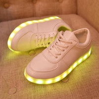 Fashion LED Light Inside Shoes Luminous USB charging colorful men&women casual Sneakers = 1946424388